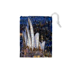 Sidney Travel Wallpaper Drawstring Pouches (Small)  by Nexatart
