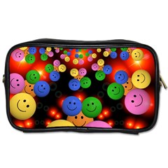 Smiley Laugh Funny Cheerful Toiletries Bags by Nexatart