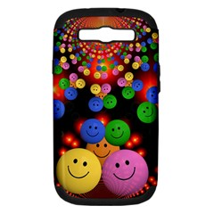 Smiley Laugh Funny Cheerful Samsung Galaxy S Iii Hardshell Case (pc+silicone) by Nexatart