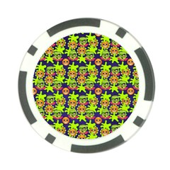 Smiley Background Smiley Grunge Poker Chip Card Guard by Nexatart