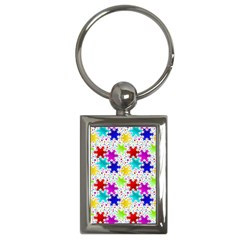 Snowflake Pattern Repeated Key Chains (rectangle)  by Nexatart