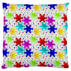 Snowflake Pattern Repeated Large Cushion Case (one Side) by Nexatart