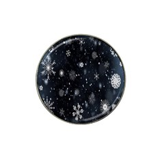 Snowflake Snow Snowing Winter Cold Hat Clip Ball Marker (4 Pack)