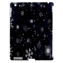 Snowflake Snow Snowing Winter Cold Apple Ipad 3/4 Hardshell Case (compatible With Smart Cover) by Nexatart