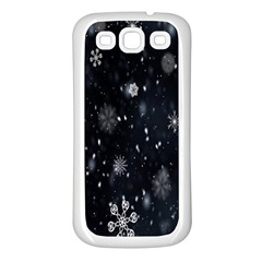 Snowflake Snow Snowing Winter Cold Samsung Galaxy S3 Back Case (white)