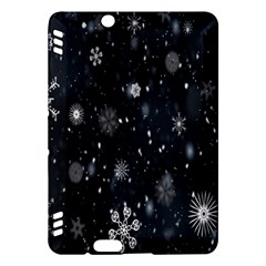 Snowflake Snow Snowing Winter Cold Kindle Fire Hdx Hardshell Case by Nexatart