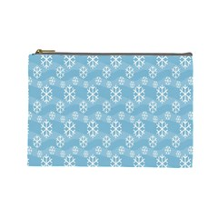 Snowflakes Winter Christmas Cosmetic Bag (large)  by Nexatart