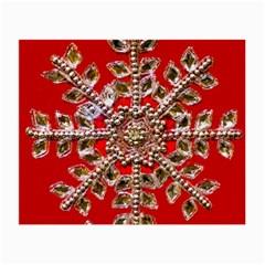 Snowflake Jeweled Small Glasses Cloth by Nexatart