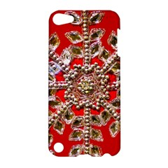 Snowflake Jeweled Apple Ipod Touch 5 Hardshell Case by Nexatart