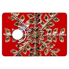 Snowflake Jeweled Kindle Fire Hdx Flip 360 Case by Nexatart
