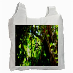 Spider Spiders Web Spider Web Recycle Bag (two Side)  by Nexatart