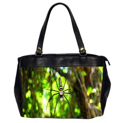 Spider Spiders Web Spider Web Office Handbags (2 Sides)  by Nexatart