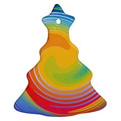 Rainbow Swirl Ornament (christmas Tree)  by OneStopGiftShop