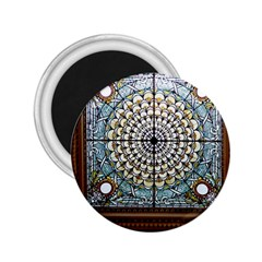 Stained Glass Window Library Of Congress 2 25  Magnets by Nexatart
