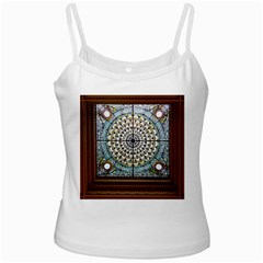 Stained Glass Window Library Of Congress White Spaghetti Tank by Nexatart