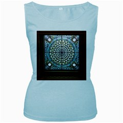 Stained Glass Window Library Of Congress Women s Baby Blue Tank Top by Nexatart