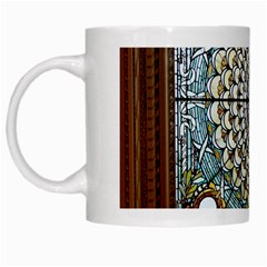 Stained Glass Window Library Of Congress White Mugs by Nexatart