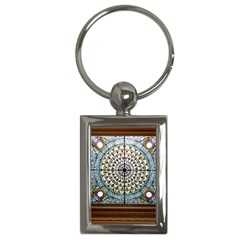 Stained Glass Window Library Of Congress Key Chains (rectangle)  by Nexatart