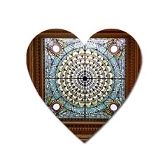 Stained Glass Window Library Of Congress Heart Magnet by Nexatart