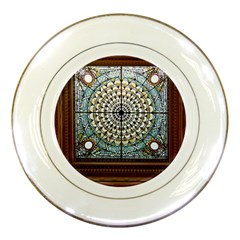 Stained Glass Window Library Of Congress Porcelain Plates by Nexatart