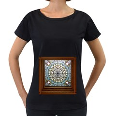 Stained Glass Window Library Of Congress Women s Loose Fit T Shirt (black) by Nexatart