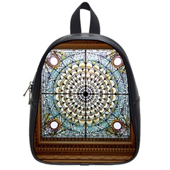 Stained Glass Window Library Of Congress School Bags (small)  by Nexatart