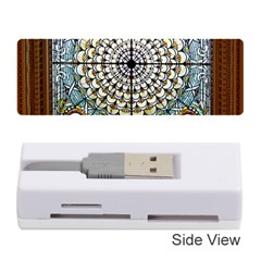 Stained Glass Window Library Of Congress Memory Card Reader (stick)  by Nexatart