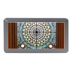 Stained Glass Window Library Of Congress Memory Card Reader (mini) by Nexatart