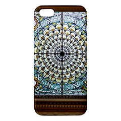 Stained Glass Window Library Of Congress Apple Iphone 5 Premium Hardshell Case by Nexatart