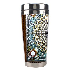 Stained Glass Window Library Of Congress Stainless Steel Travel Tumblers by Nexatart