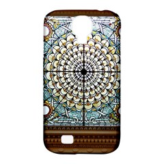 Stained Glass Window Library Of Congress Samsung Galaxy S4 Classic Hardshell Case (pc+silicone) by Nexatart