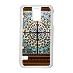 Stained Glass Window Library Of Congress Samsung Galaxy S5 Case (white) by Nexatart