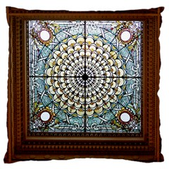 Stained Glass Window Library Of Congress Large Flano Cushion Case (two Sides) by Nexatart