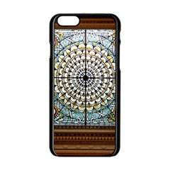 Stained Glass Window Library Of Congress Apple Iphone 6/6s Black Enamel Case by Nexatart