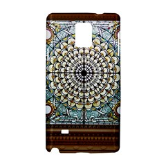 Stained Glass Window Library Of Congress Samsung Galaxy Note 4 Hardshell Case by Nexatart