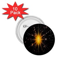 Star Christmas Advent Decoration 1 75  Buttons (10 Pack)