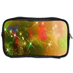 Star Christmas Background Image Red Toiletries Bags 2 Side