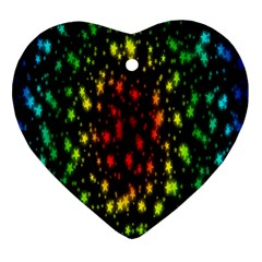 Star Christmas Curtain Abstract Heart Ornament (Two Sides)