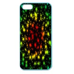 Star Christmas Curtain Abstract Apple Seamless Iphone 5 Case (color) by Nexatart