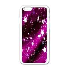 Star Christmas Sky Abstract Advent Apple Iphone 6/6s White Enamel Case by Nexatart
