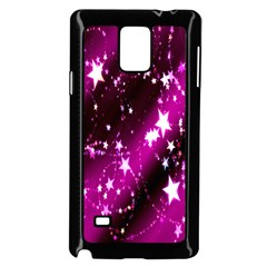 Star Christmas Sky Abstract Advent Samsung Galaxy Note 4 Case (black) by Nexatart
