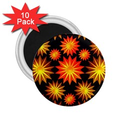 Stars Patterns Christmas Background Seamless 2 25  Magnets (10 Pack)  by Nexatart
