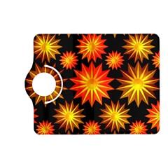 Stars Patterns Christmas Background Seamless Kindle Fire Hd (2013) Flip 360 Case by Nexatart