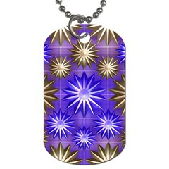 Stars Patterns Christmas Background Seamless Dog Tag (two Sides)