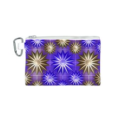 Stars Patterns Christmas Background Seamless Canvas Cosmetic Bag (S) by Nexatart