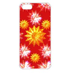 Stars Patterns Christmas Background Seamless Apple Iphone 5 Seamless Case (white) by Nexatart