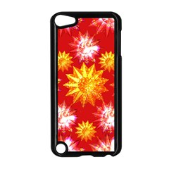 Stars Patterns Christmas Background Seamless Apple Ipod Touch 5 Case (black) by Nexatart