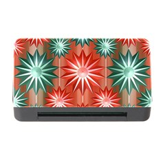 Stars Patterns Christmas Background Seamless Memory Card Reader with CF by Nexatart