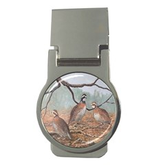 Bob White Quail Money Clips (round)  by theunrulyartist