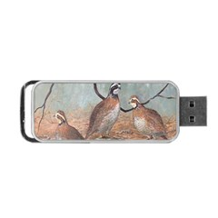 Bob White Quail Portable Usb Flash (two Sides) by theunrulyartist